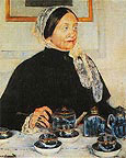 Lady at the Tea Table 1885 By Mary Cassatt
