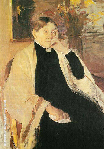 Mrs Robert S Cassatt The Artists Mother 1889 By Mary Cassatt - Oil Paintings & Art Reproductions - Reproduction Gallery