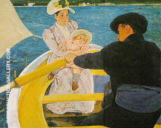 The Boating Party 1894 By Mary Cassatt - Oil Paintings & Art Reproductions - Reproduction Gallery
