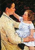 The Childs Caress 1890 By Mary Cassatt
