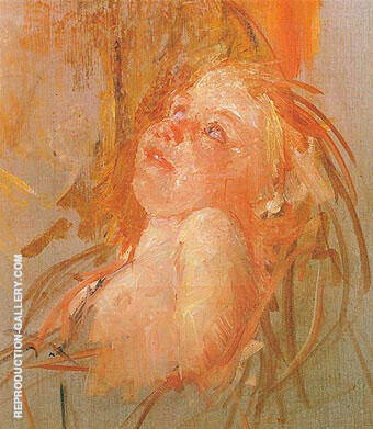 Young Child in its Mothers Arms Looking at Her with Intensity 1910 Painting By ...