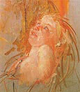 Young Child in its Mothers Arms Looking at Her with Intensity 1910 By Mary Cassatt