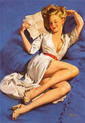 Gil Elvgren He Thinks Im Too Good to Be True 1947 By Pin Ups