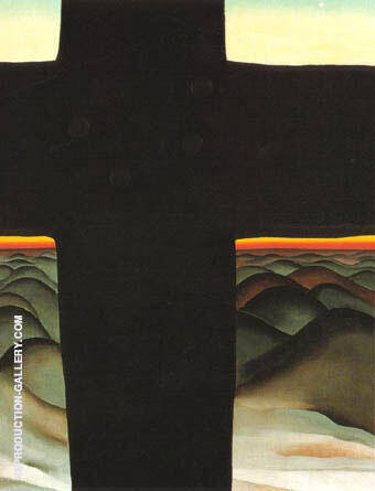 Black Cross New Mexico 1929 Painting By Georgia O'Keeffe