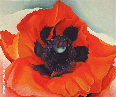 Poppy 1927 By Georgia O'Keeffe Replica Paintings on Canvas - Reproduction Gallery