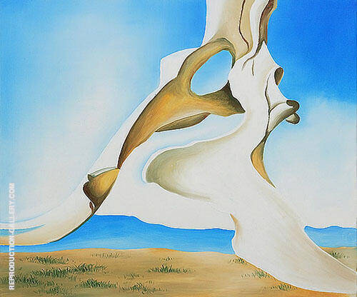 Reproduction of Pelvis With the Distance 1943 by Georgia O'Keeffe | Oil Painting Replica On CanvasReproduction Gallery