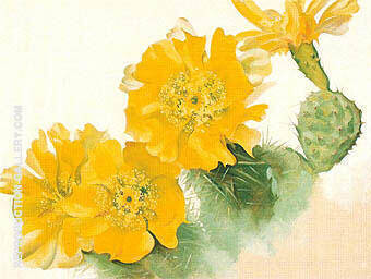 Reproduction of Yellow Cactus Flower 1940 by Georgia O'Keeffe | Oil Painting Replica On CanvasReproduction Gallery