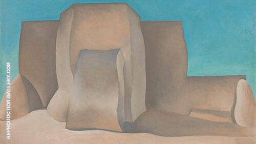Ranchos Church c1930 Painting By Georgia O'Keeffe - Reproduction Gallery