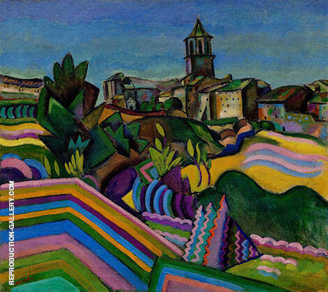 Prades the Village 1917 By Joan Miro - Oil Paintings & Art Reproductions - Reproduction Gallery