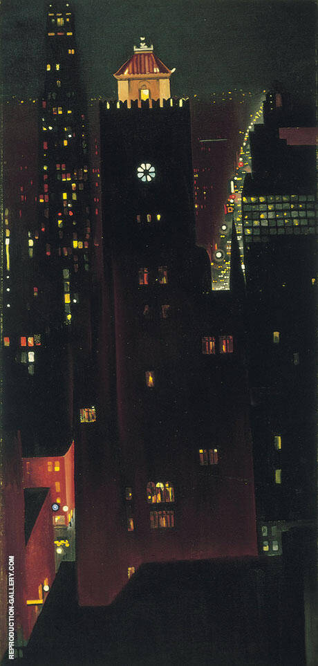 New York Night 1928-29 By Georgia O'Keeffe - Oil Paintings & Art Reproductions - Reproduction Gallery