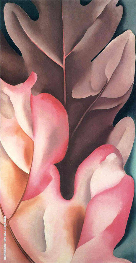 Oak Leaves Pink and Grey 1929 By Georgia O'Keeffe