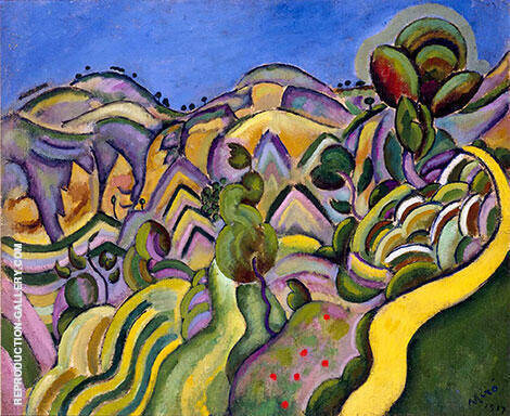 Ciurana the Path 1917 By Joan Miro - Oil Paintings & Art Reproductions - Reproduction Gallery