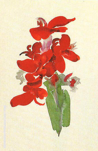Red Canna 1920 By Georgia O'Keeffe