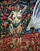 Standing Nude 1921 By Joan Miro
