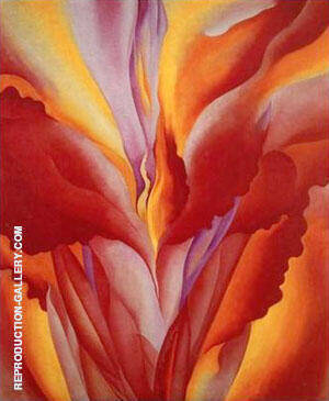 Red Canna 1924 Painting By Georgia O'Keeffe - Reproduction Gallery