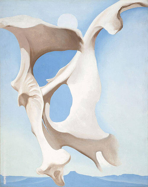 Pelvis With Moon 1943 Painting By Georgia O'Keeffe - Reproduction Gallery
