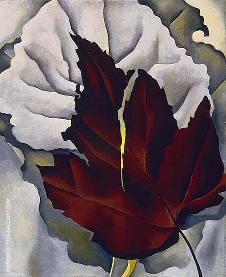 Pattern of Leaves 1924 Painting By Georgia O'Keeffe - Reproduction Gallery