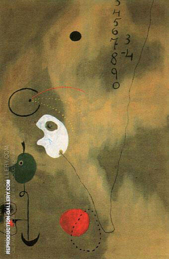 Calculation 1925 By Joan Miro - Oil Paintings & Art Reproductions - Reproduction Gallery