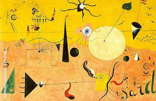 Reproduction of Catalan Landscape The Hunter 1923 by Joan Miro | Oil Painting Replica On CanvasReproduction Gallery