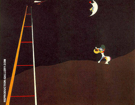 Dog Barking at the Moon 1926 By Joan Miro - Oil Paintings & Art Reproductions - Reproduction Gallery