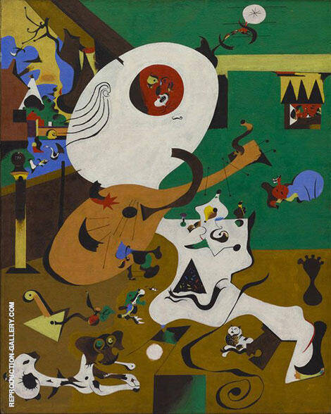 Dutch Interior 1 1928 Painting By Joan Miro - Reproduction Gallery