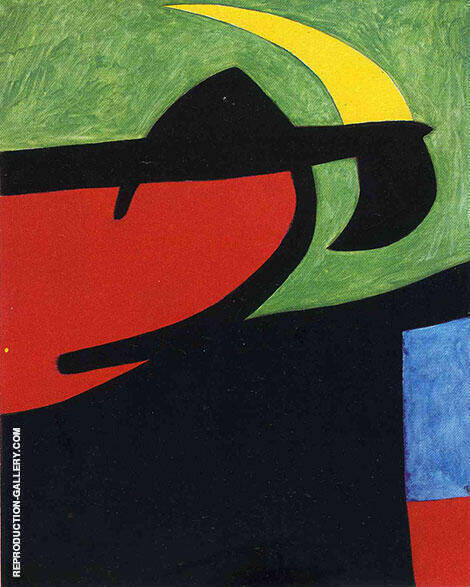 Catalan Peasant in the Moonlight 1968 By Joan Miro - Oil Paintings & Art Reproductions - Reproduction Gallery