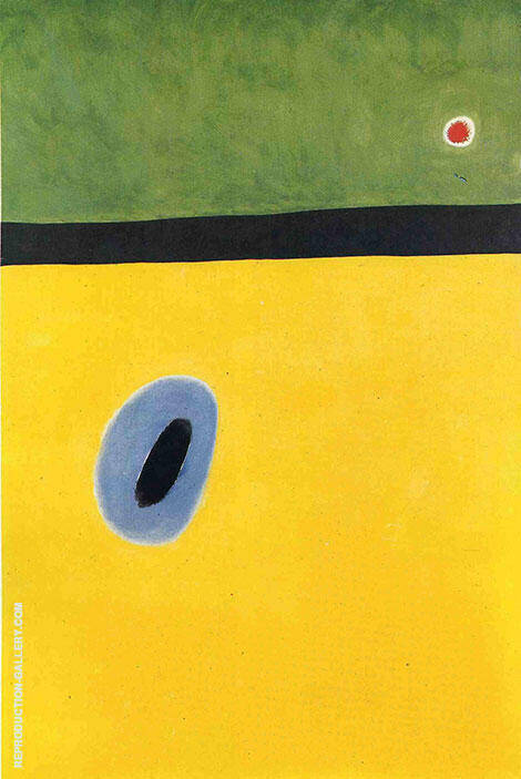 Reproduction of The Larks Wing 1967 by Joan Miro | Oil Painting Replica On CanvasReproduction Gallery