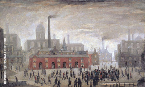 An Accident 1926 (City of Manchester) Painting By L-S-Lowry