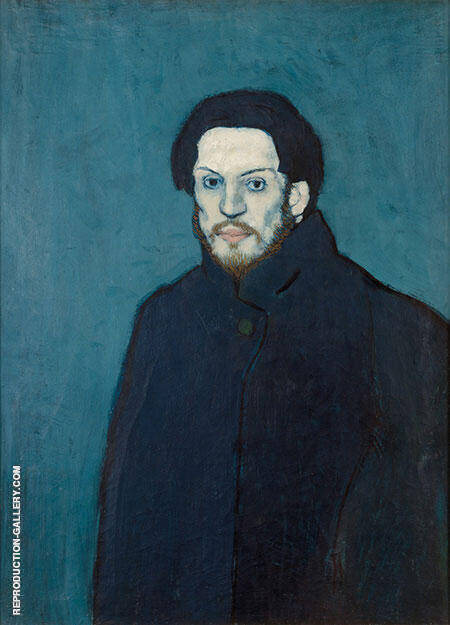 AUTOPORTRAIT 1901 By Pablo Picasso - Oil Paintings & Art Reproductions - Reproduction Gallery
