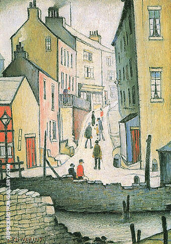 An Old Street 1937 By L-S-Lowry - Oil Paintings & Art Reproductions - Reproduction Gallery