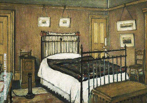 The Bedroom, Pendlebury 1940 By L-S-Lowry Replica Paintings on Canvas - Reproduction Gallery