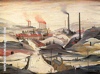 Industrial Panorama 1953 By L-S-Lowry - Oil Paintings & Art Reproductions - Reproduction Gallery