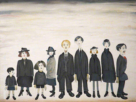The Funeral Party 1953 By L-S-Lowry - Oil Paintings & Art Reproductions - Reproduction Gallery