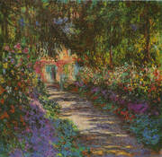 Garden Path Giverny 1902 By Claude Monet
