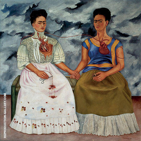 The Two Fridas 1939 Painting By Frida Kahlo - Reproduction Gallery