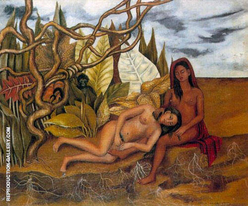 Reproduction of Two Nudes in the Wood 1939 by Frida Kahlo | Oil Painting Replica On CanvasReproduction Gallery