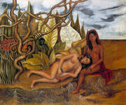 Two Nudes in the Wood 1939 By Frida Kahlo