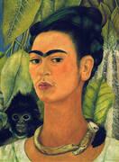 Self Portrait with Monkey 1938 By Frida Kahlo