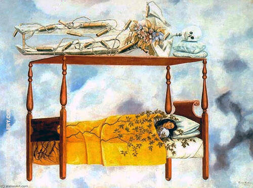 The Dream 1940 By Frida Kahlo