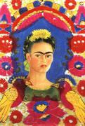 Self Portrait The Frame 1938 By Frida Kahlo