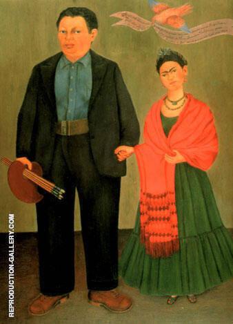 Frida and Diego Rivera 1931 By Frida Kahlo