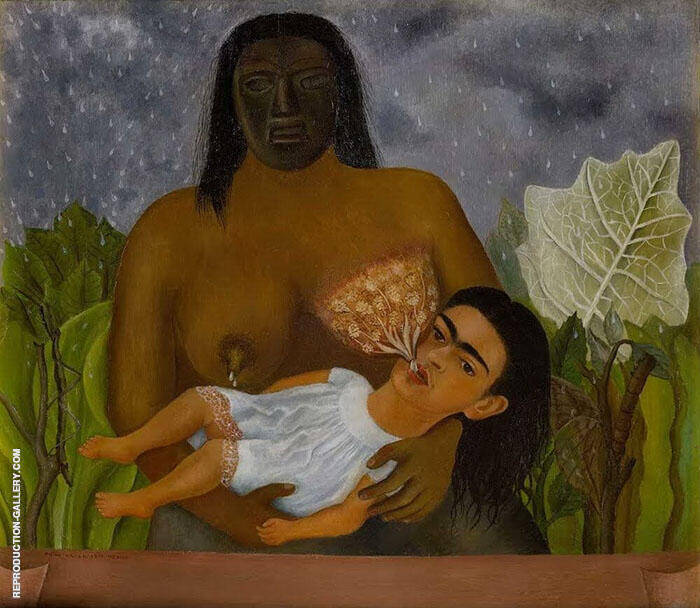 My Nurse and I 1937 Painting By Frida Kahlo - Reproduction Gallery