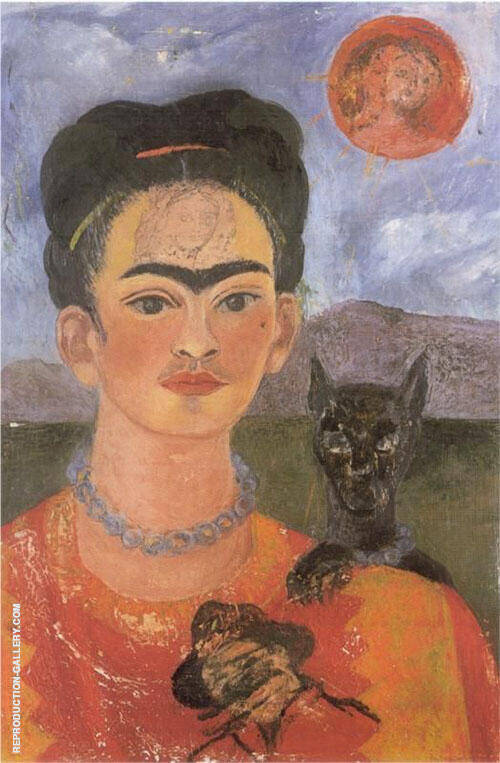 Self Portrait with Deigo on the Breast 1953 Painting By Frida Kahlo