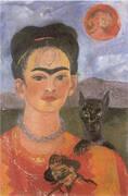 Self Portrait with Deigo on the Breast 1953 By Frida Kahlo