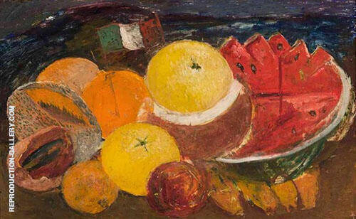 Still Life with Flag 1952 By Frida Kahlo Replica Paintings on Canvas - Reproduction Gallery