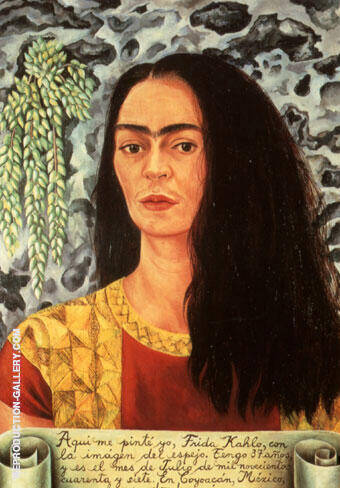 Self Portrait with Hair Loose 1947 By Frida Kahlo Replica Paintings on Canvas - Reproduction Gallery