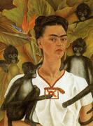 Self Portrait with Monkeys 1943 By Frida Kahlo