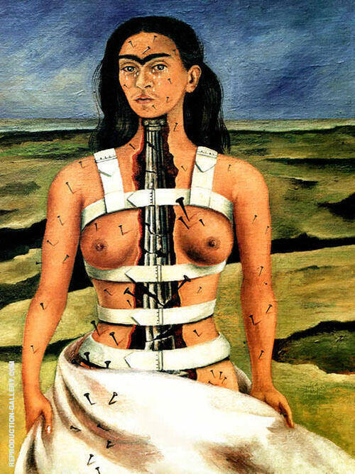The Broken Column 1944 Painting By Frida Kahlo - Reproduction Gallery