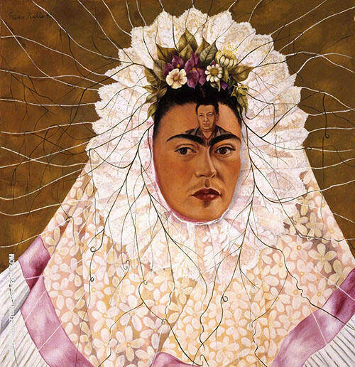 Self Portrait as a Tehuana Painting By Frida Kahlo - Reproduction Gallery