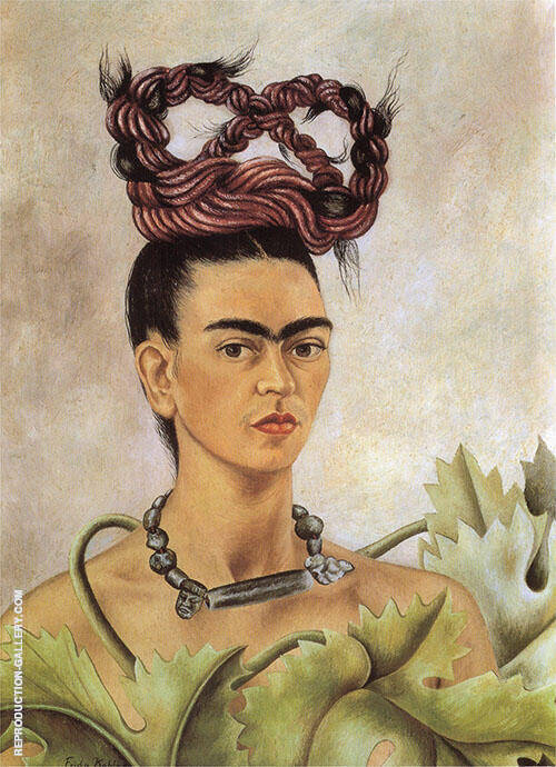Self Portrait with Braid 1941 By Frida Kahlo
